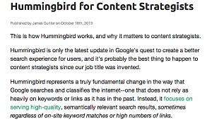 hummingbird blog extract