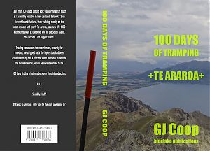 cover for the paperback version of 100 Days of Tramping by GJ Coop