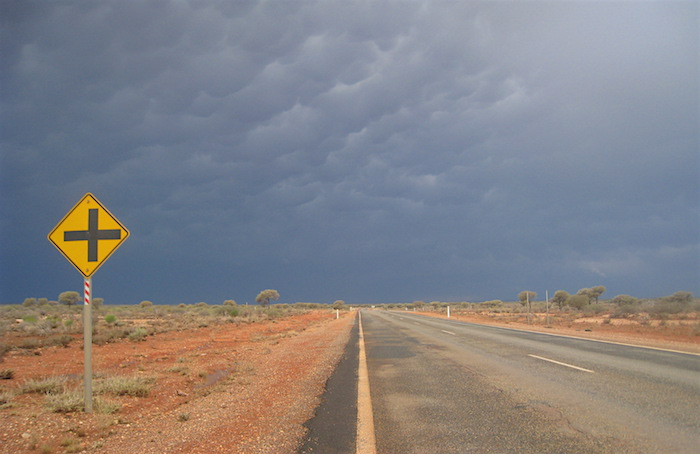 one of 500gb of images, the road out of Menzies, Western Australia, 11 2009