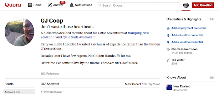 named Top Writer on Quora